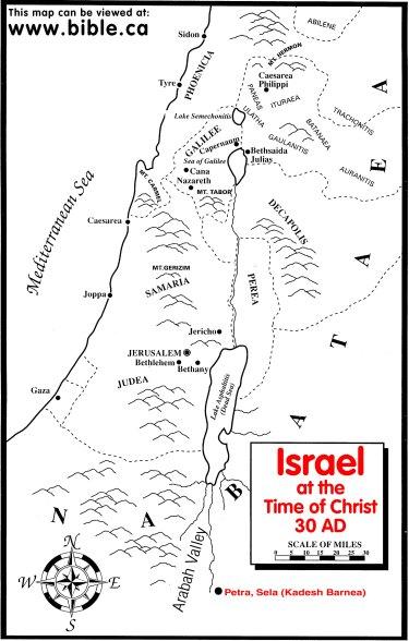 Palestin biblical map
