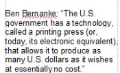 Bernanke quote